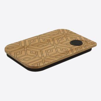 Nubento bamboo lid for lunch box Geometrical 17.5x11.8x1.7cm
