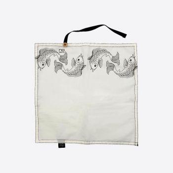 Nubento napkin in organic cotton Fish 30x30cm (per 6pcs)