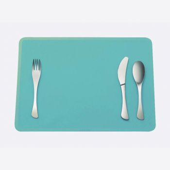 Omami 3-piece set of cutlery & placemat blue (12pcs/disp.)
