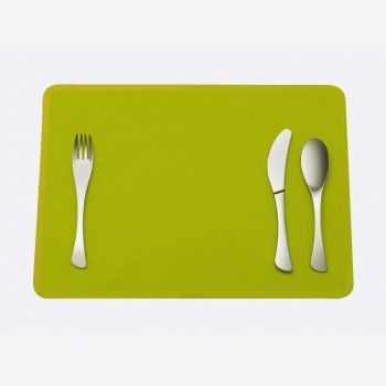 Omami 3-piece set of cutlery & placemat green (12pcs/disp.)