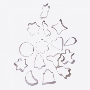Point-Virgule set of 16 cookies cutters in stainless steel christmas