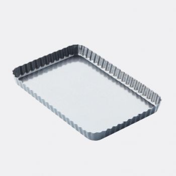 Point-Virgule fluted non-stick tart/quiche pan with removable base 31x21x3cm