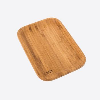 Point-Virgule bamboo serving tray small 21x14.5x1.9cm