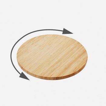 Point-Virgule bamboo lazy susan ø 35cm