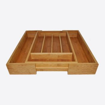 Point-Virgule bamboo cutlery tray expandable 40.5x26.5x6.5cm