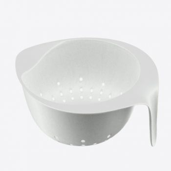 Point-Virgule bamboo fiber colander with handle off-white 28.5x23.5x13cm