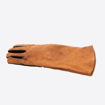 Point-Virgule barbecue glove left brown and black leather 42x20cm