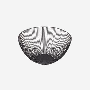 Point-Virgule Wire basket black ø 25cm H 14cm