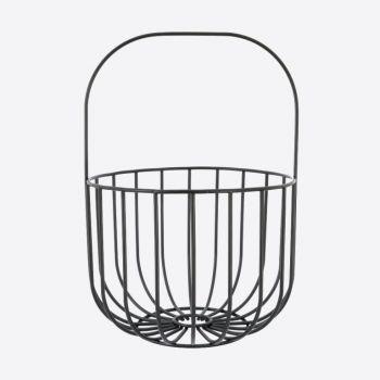 Point-Virgule Wire fruit basket with handle black 22.5x32.5cm
