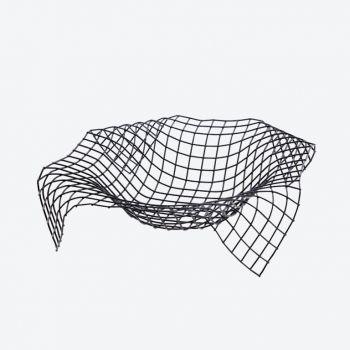 Point-Virgule Wire Envelope basket black 30x30x7.5cm