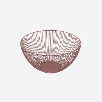 Point-Virgule Wire basket dusty pink ø 25cm H 14cm