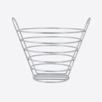 Point-Virgule chrome fruit basket large 26x23.5x22cm