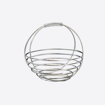 Point-Virgule chrome fruit basket 26x26x25cm