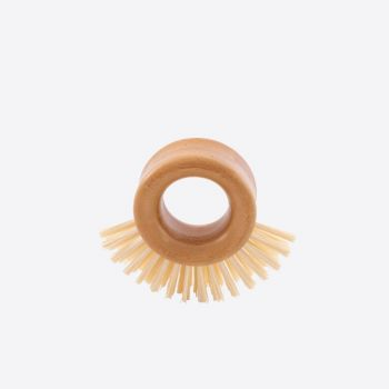 Point-Virgule cleaning brush with ring-shaped bamboo grip 9x8x3.5cm