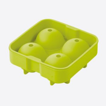 Point-Virgule silicone ice ball mold for 4 balls green ø 4.5cm