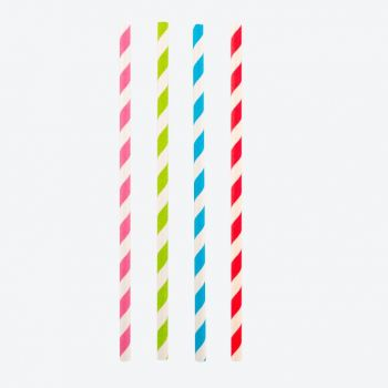 Point-Virgule set of 48 colored paper drinking straws 19.5cm