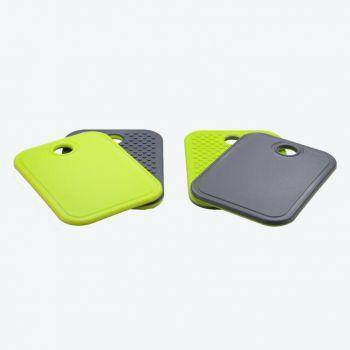 Point-Virgule non-slip cutting board grey and green 19x14x1cm (12pcs/disp.)