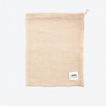 Point-Virgule reusable cotton mesh bag for vegetables and fruit 27x32cm (16pcs/disp.)