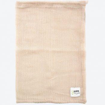 Point-Virgule reusable cotton mesh bag for vegetables and fruit 30x40cm (14pcs/disp.)