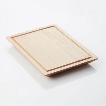 Point-Virgule beech cutting board with groove by Mathias De Ferm 39x29x4cm