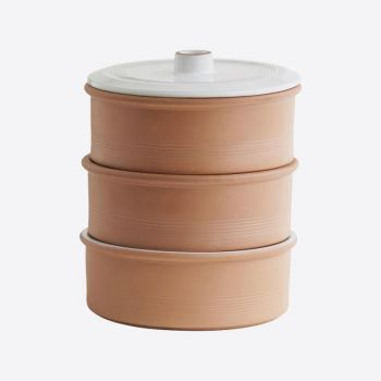 Point-Virgule terracotta sprouter with 3 trays ø 17.5cm H 20cm