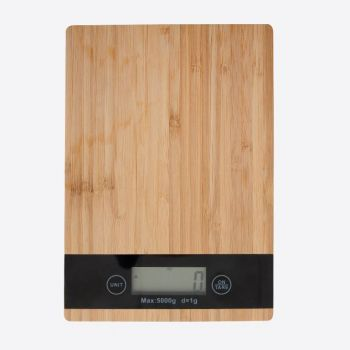 Point-Virgule digital kitchen scale in bamboo 5kg