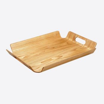 Point-Virgule frame tray with handles colour of wood 55x40x5cm