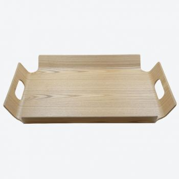 Point-Virgule frame tray with handles colour of wood 44.5x33.5x4.5cm