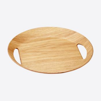 Point-Virgule oval tray colour of wood 46x41x4cm