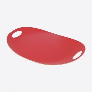 Point-Virgule oval oblong red tray 55x35cm