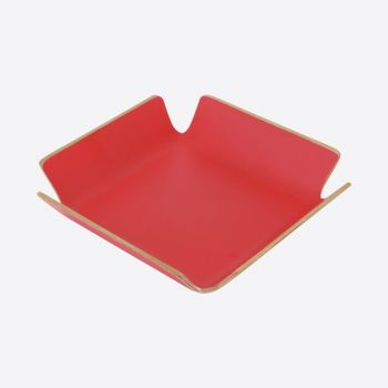 Point-Virgule napkin basket red 15x15x4cm