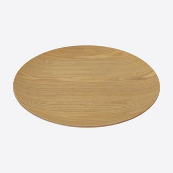 Point-Virgule round serving tray colour of wood ø 41cm H 3cm