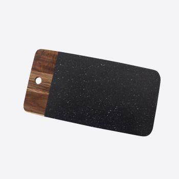 Point-Virgule acacia wood and granite serving board 35.2x17.9x1.2cm