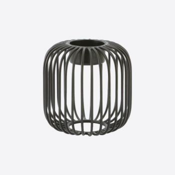Point-Virgule Wire tealight holder black ø 9.5cm H 9.5cm