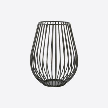 Point-Virgule Wire candle holder black ø 11.5cm H 15.5cm