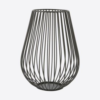 Point-Virgule Wire candle holder black 17cm H 22.5cm