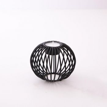 Point-Virgule Wire tealight holder black ø 10.5cm H 9cm