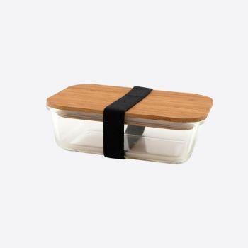 Point-Virgule glass lunch box with bamboo lid 700ml