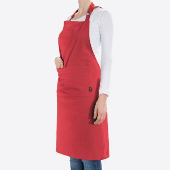 Point-Virgule apron pepper red 85x90cm