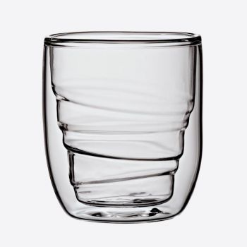 QDO Elements set of 2 double-walled glasses Wood 75ml