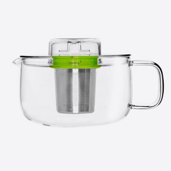 QDO Me Pot tea pot in glass with infuser green 500ml