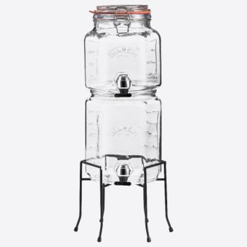 Kilner set of 2 stackable drinks dispensers with stand 2L & 3L (per 2pcs)