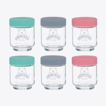 Kilner set of 6 glass jars for baby food with silicone lid 190ml