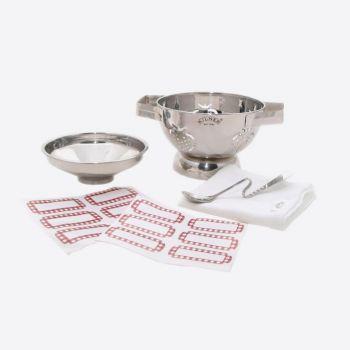 Kilner starterset with colander - funnel - jam spoon - muslin & 12 labels