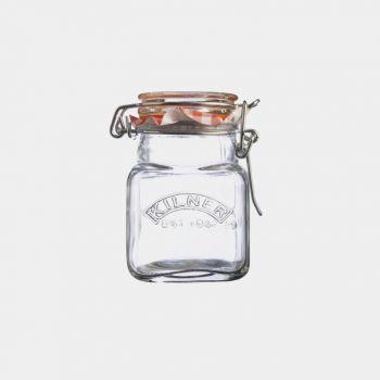 Kilner square glass clip top spice jar 70ml (per 12pcs)