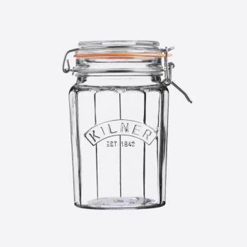 Kilner faceted glass clip top jar 950ml