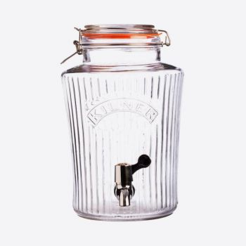 Kilner vintage round drinks dispenser with tap 8L (per 2pcs)