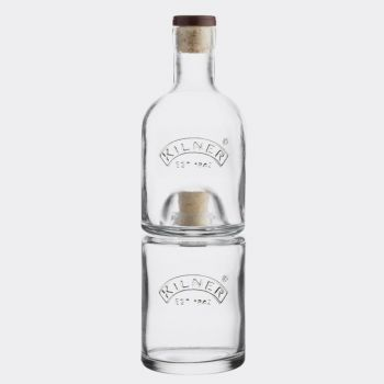 Kilner stackable glass oil and vinegar set 330ml - 350ml