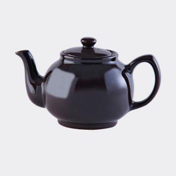 Price & Kensington glossy ceramic 6-cup teapot dark brown 1.1L (per 3pcs)