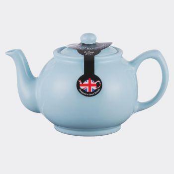 Price & Kensington glossy ceramic 6-cup teapot pastel blue 1.1L (per 3pcs)